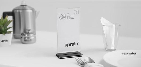 Tischaufsteller für Chatbot by uprate®