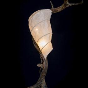 Treibholz Licht, Lampe, Leuchte, Kunst