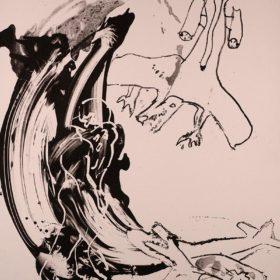 Kunst; Lithographie von Bernhard Lochmann