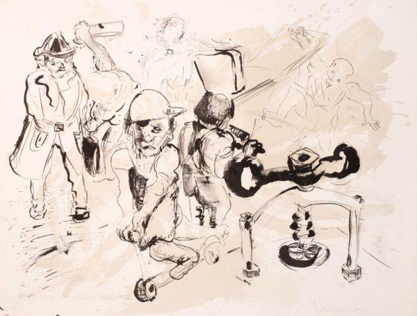 Lithografie von Bernhard Lochmann