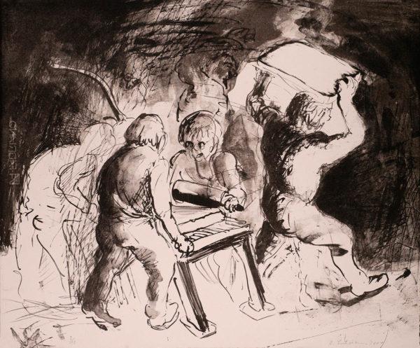 Kunst, Lithographoe von Bernhard Lochmann, Lithobande