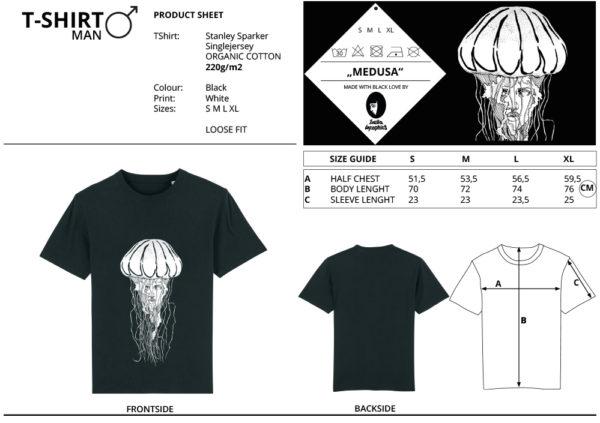Größentabelle Art Shirt Medusa