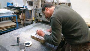 Bernhard Lochmann, Grafische Werkstatt im Traklhaus, Lithografie