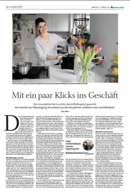 Mit ein paar Klicks ins Geschäft – Redaktioneller Beitrag über Klickland in den Salzburger Nachrichten